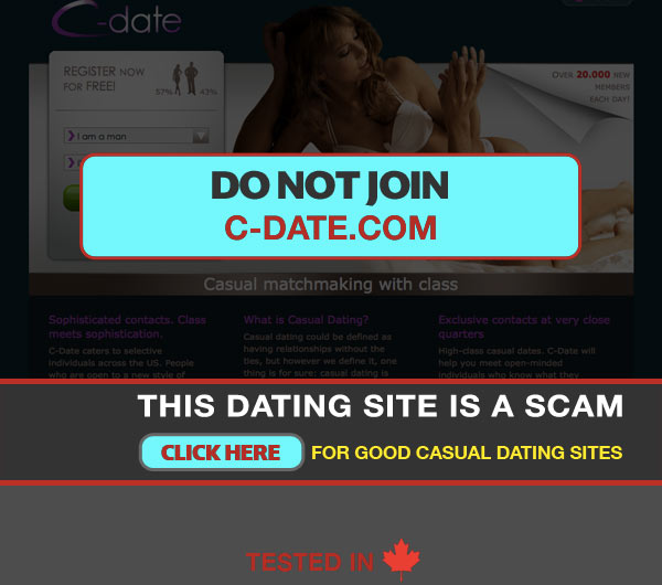 Capture of C-Date Homepage